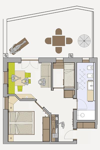 Floor plan of the apartment 2